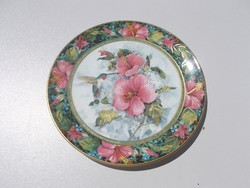 Csodaszép Royal Doulton The Imperial Hummingbird porcelán tányér