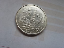 1958 ezüst belga 50 frank 12,5 gramm 0,835
