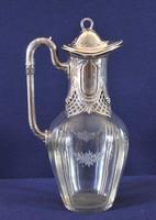 Barokk stílusú ezüst karaffa,