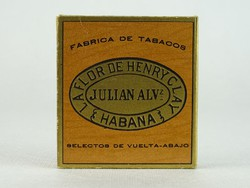 0N432 JULIAN ALV papír szivardoboz HABANA