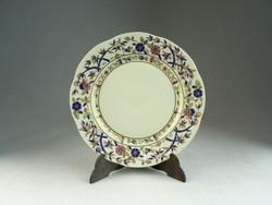 0N516 Bambusz mintás Zsolnay süteményes tányér