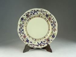 0N517 Bambusz mintás Zsolnay süteményes tányér