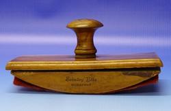 0N476 Régi fa tapper tinta itató íróasztali kellék