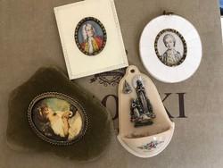 Miniatűr csomag selyem kep,festmény +ajándék