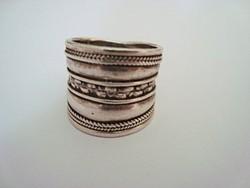 Izraeli kézműves ezüst gyűrű