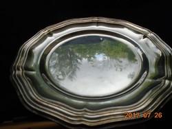Barokk antik ezüstözött tál-18,3 cm