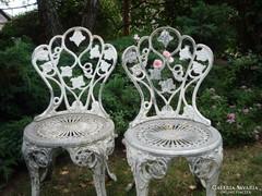 Fém kerti szék - 2 db