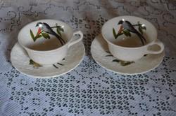 """Jelzett Angol Art Deco """"Fecskét"""" ábrázoló Teás csésze szett pár"""