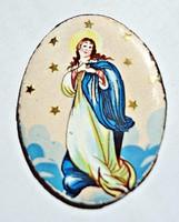 Szűz Mária német tűzzománc lapka