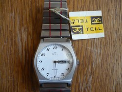 Tell nagyon ritka NOS svájci automata férfi óra