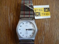 Tell nagyon ritka svájci automata férfi óra ... c5361136dc