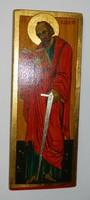 Szigeti Erzsébet ikonfestő kézzel festett másolat eredeti technikával: Szent Pál