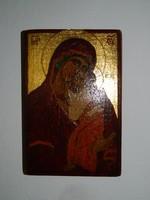Szigeti Erzsébet ikonfestő kézzel festett másolat eredeti technikával :JAROSLAVLI ISTEN ANYJA