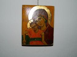 Szigeti Erzsébet ikonfestő kézzel festett másolat eredeti technikával : Isten anyja 14. sz.