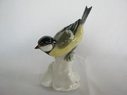 Volkstedt porcelán cinege cinke madár