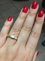 1 köves eljegyzési arany gyűrű