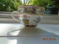 JINGDEZHEN Kézzel festett,aranyozott Pillangó,gyümölcs,virág mintákkal díszített kínai csésze