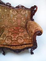 Dúsan faragott barokk ülőgarnitúra