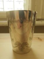 Szecessziós ezüst keresztelőpohár 800-as