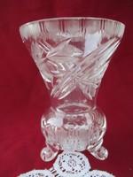1781 lábon álló üveg váza  16 cm
