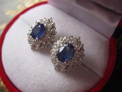 RITKASÁG! Valódi, tiszta kék zafír 925 ezüst fülbevaló