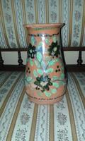 Lökös kerámia váza festett nagyon régi NAGY LEÁRAZÁSOK NÁLLAM NÉZZEN SZÉT MEGÉRI!!!