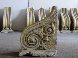 0I511 Antik épületdísz gipszstukkó 22 darab
