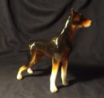 Régi nagyméretű porcelán kutya