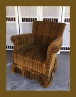 Kis méretű art deco,szoknyás fotel