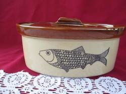 1799  Mesés angol Chesterfield kerámia halas főző edény