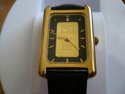 Credit Suisse vastagon aranyozott női karóra 1 gramm 24 karátos arany táblával