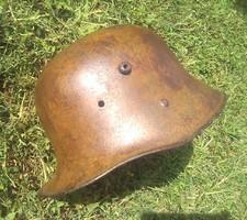1 vh Osztrák-magyar M17 sisak IsonzoBraun