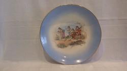 Ritka antik Zsolnay Pécs 470 II I/2 porcelán falitál