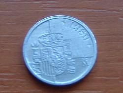 SPANYOL 1 PESETA 1989 KICSI