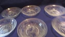 6 db kompótos üveg tál A071