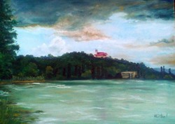 50 x 70 -Tihany-olajfestmény