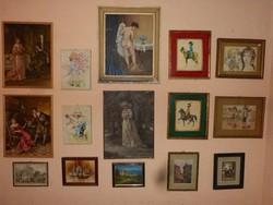 15 db festmény - nyomat.