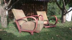 Ritka art deco kivehető ülőlapos rugós ülésű fotel áthúzásra eladó!
