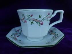 Angol porcelán teáscsésze alátéttel. 1