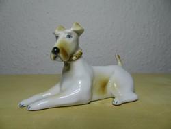 Zsolnay foxi kutya porcelán figura hibátlan állapotban, legkedvezőbb árban!