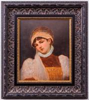 XX. századi magyar festő: Lányka portré