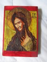 MEGVÁLTÓ JÉZUS KRISZTUS KÉZZEL FESTETT ARANYOZOTT IKON KOLOZSVÁR EGYETEM CERTIFIKÁT 1995 KEGYTÁRGY