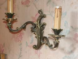 Barokk réz falikar