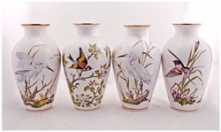 CSODÁS márkás madaras Franklin váza 4 db-os limitalt széria egyben