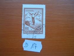 ARGENTÍNA 1,00 PESO 1971 SÍUGRÁS D17