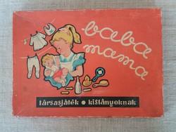 Régi Retro Baba mama társasjáték