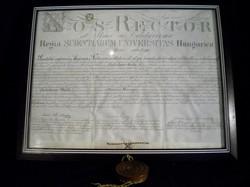 K315 Régi pergamenre írt doktori diploma
