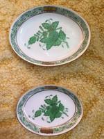 2 darab Herendi hamutál hamutartó HIBÁTLAN Zöld Apponyi mintás - 2 darab