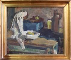 Vályi Csaba festménye: Csendélet  c.