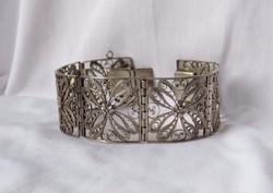Meseszép filigran ezüst karperec - régi, csodás ékszer!